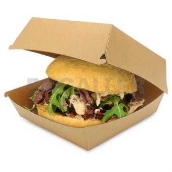 Hamburger Box Bio braun Frischfaser Ragaller, 150 Stück