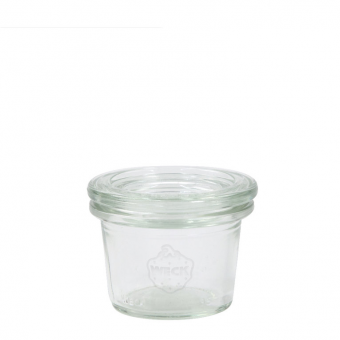 Weck-Mini-Sturzglas 35 ml mit Deckel Set 24-teilig