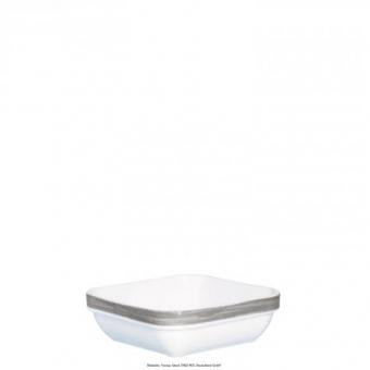 Schale quadratisch 11x11 cm Brush grau/weiss Arcoroc