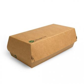 """Baguetteboxen, Pappe """"pure"""" groß 10,7 x 22 cm """"100% Fair""""  Papstar"""