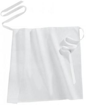 Bistroschürze / Vorbinder 50 cm weiß