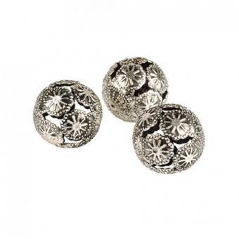 Deko-Kugeln aus Metall Ø 28 mm silber Marrakesch, 144 Stück