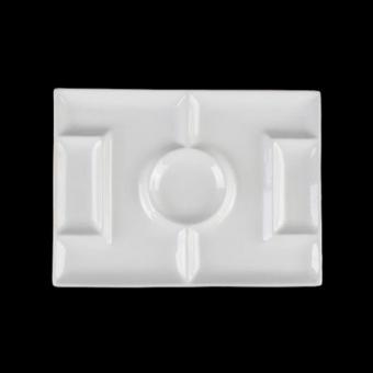 Porzellan Fußballteller/Fußballfeld 27 x 20 cm weiß Holst Porzellan