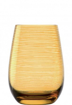 Becher bernstein geriffelt Glasserie Twister  Stölzle