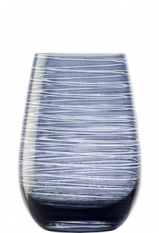 Becher blaugrau geriffelt Glasserie Twister Stölzle