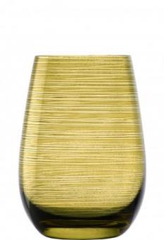 Becher olive geriffelt Glasserie Twister Stölzle