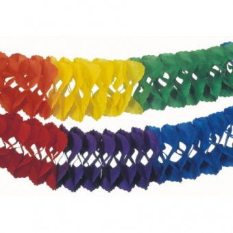 Großraum-Girlande 10 m Rainbow, 5 Stück