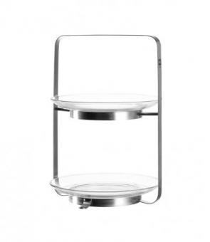 Etagere Glas 2-stöckig Senso
