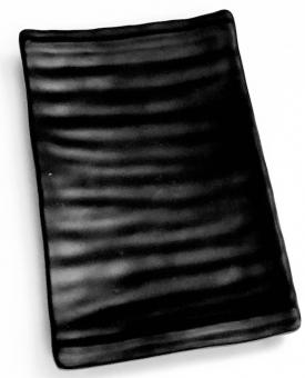 Platte rechteckig schwarz/matt Q Squared