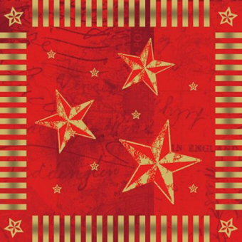 Weihnachtsservietten rot Star Shine, 600 Stück