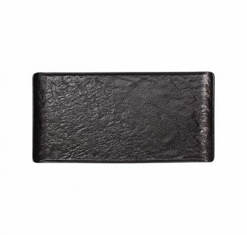 Steakplatte 33,5x20,5 cm Vulcania schwarz Tognana