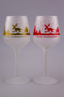 Glühweinkelch/Glühbierglas 0,2l gehärtet satiniert mit Motiv