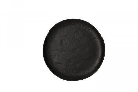 Dessertteller flach 21 cm Vulcania schwarz Tognana